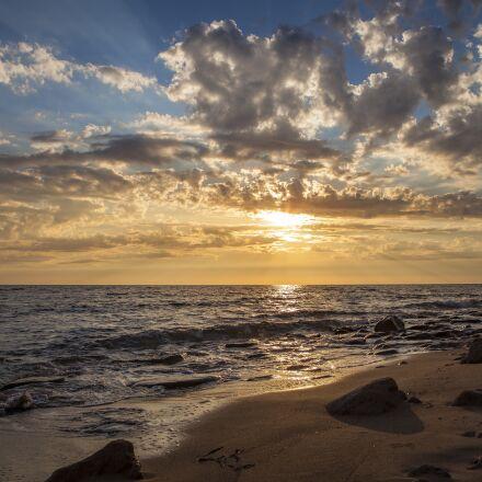 sunset, beach, summer, Canon EOS 5D MARK II