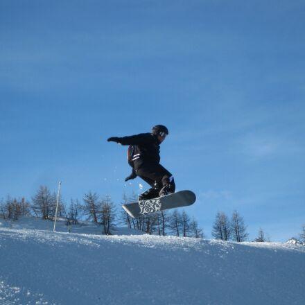 snowboard, jump, snow, Canon DIGITAL IXUS 85 IS