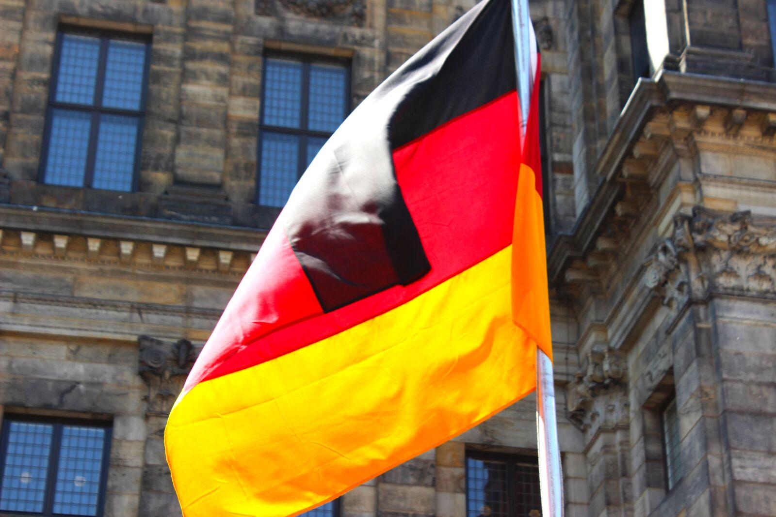 "Canon EOS 600D (Rebel EOS T3i / EOS Kiss X5) sample photo. ""Germany flag, germany, black"" photography"