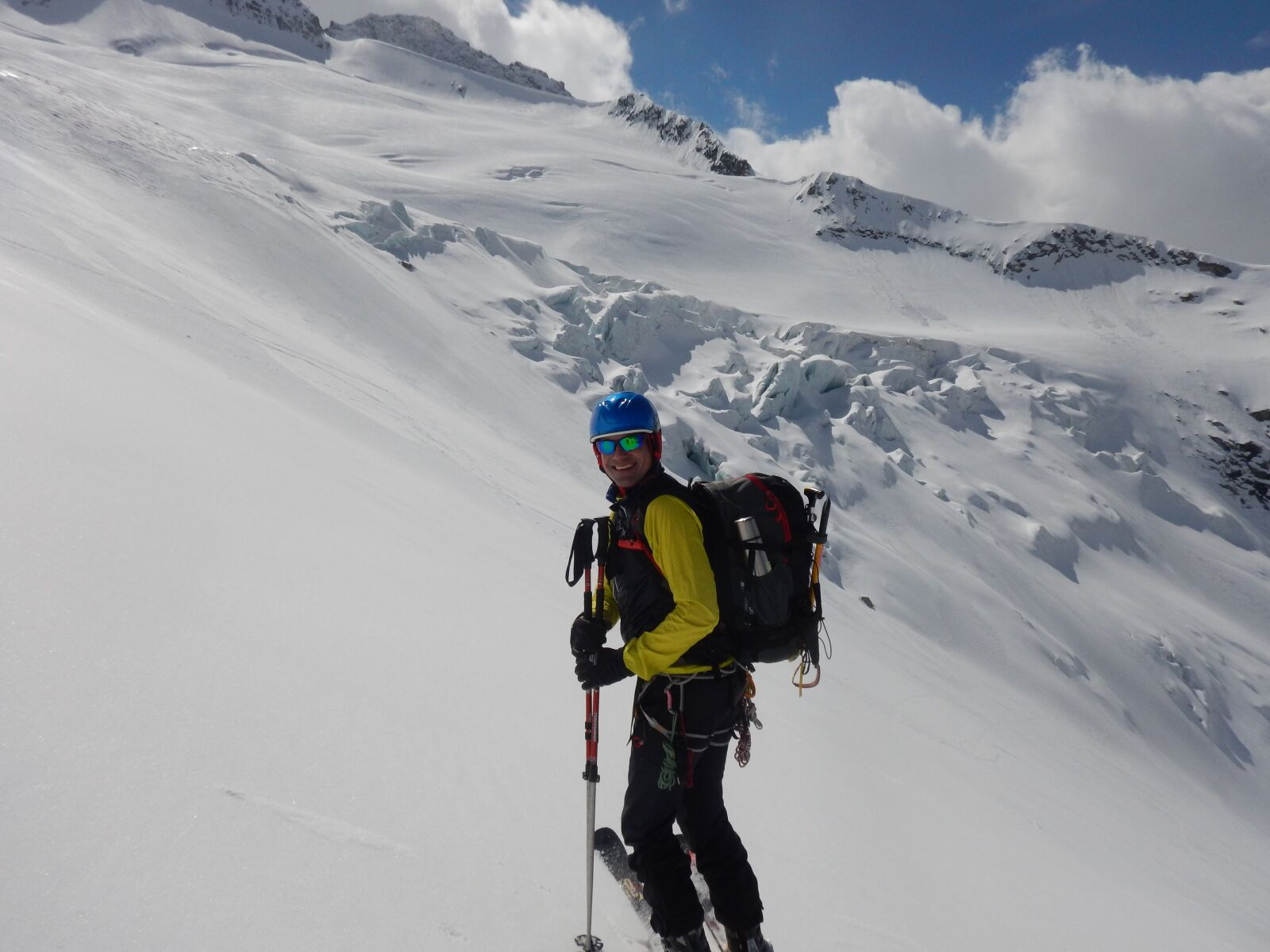 """Nikon Coolpix AW120 sample photo. """"Glacier, backcountry skiiing, ski"""" photography"""