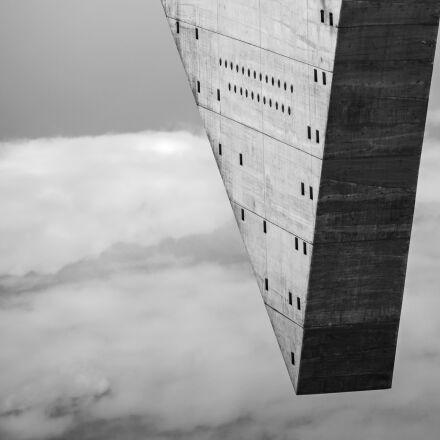 black and white, architecture, Canon EOS 5D MARK II