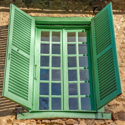 window, shutter, exterior, Pentax K10D