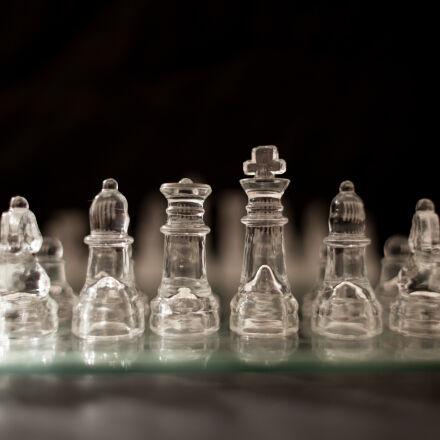 black, chess, glass, night, Canon EOS 5D MARK II
