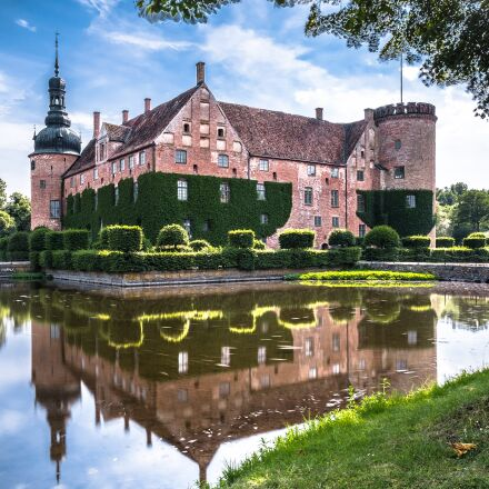 sweden, moated castle, southern, Fujifilm X-T1