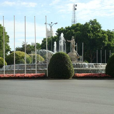 fountain, madrid, road, roundabout, Sony DSC-W90