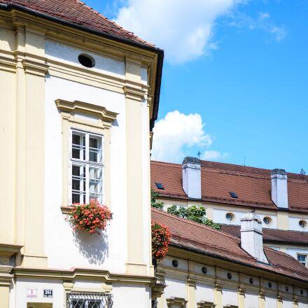building, blue sky, architecture, Nikon D600
