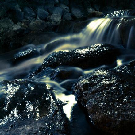 blur, cascade, close, up, Sony ILCE-6000