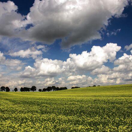landscape, field, clouds, Canon EOS 550D