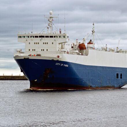 shipping, nissan, tyneside sea, Canon EOS 7D