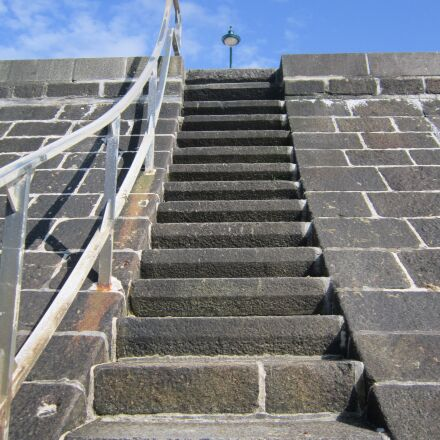 dam, stairs, saint malo, Canon POWERSHOT A3200 IS