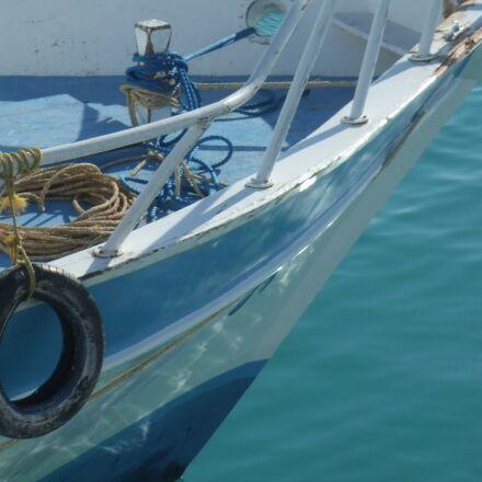 boat, sea, blue, Fujifilm FinePix Z1