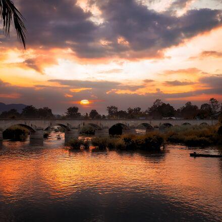 sunset, summer, river, Panasonic DMC-GF2