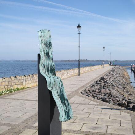 statue, pier, lamps, Canon EOS 5D MARK III