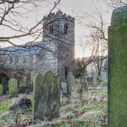 church, graveyard, headstone, Canon EOS 70D