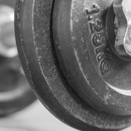 fitness studio, dumbbell, weights, Canon EOS 700D