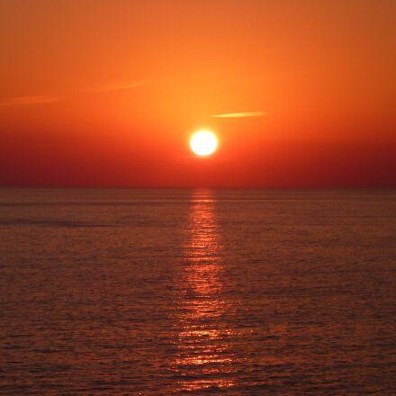 sun, sunset, sea, Panasonic DMC-FS16