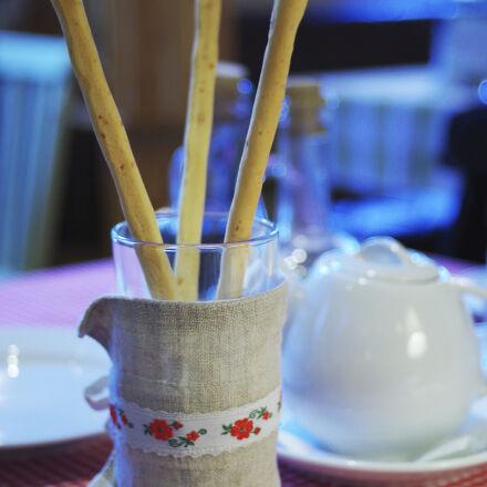 bread, breakfast, tea, teapot, Pentax K-50