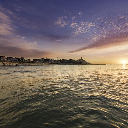 sea, dawn, landscape, sunset, Nikon D750