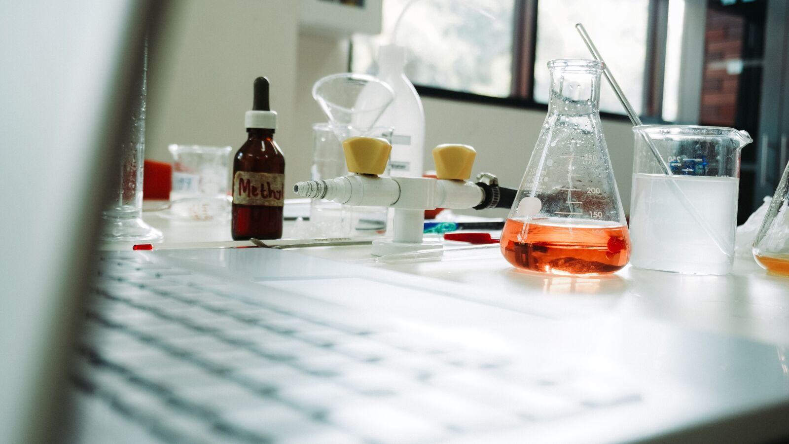 "Sony a6400 sample photo. ""Science, chemistry, laboratory"" photography"