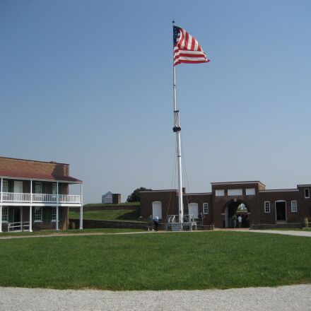 fort mchenry, baltimore, flag, Canon POWERSHOT SD630