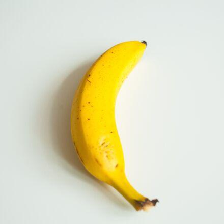 banana, yellow, white background, Canon EOS 5D MARK II