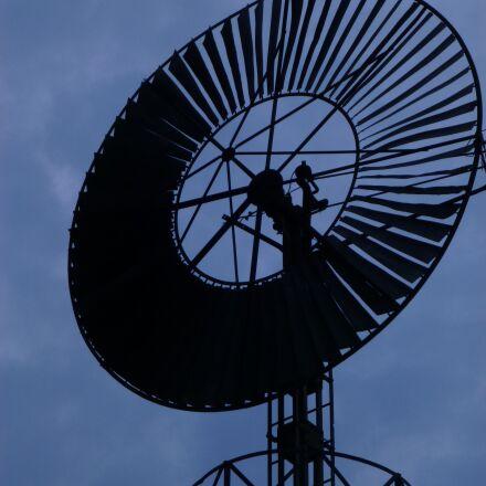 head mill, wind, night, Panasonic DMC-TZ27