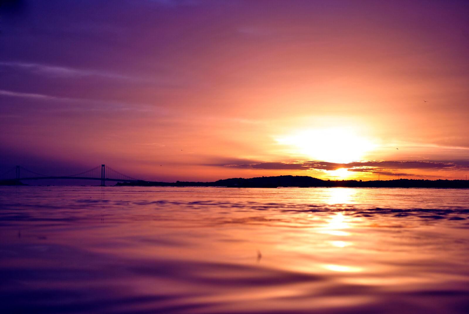 "Nikon D3000 sample photo. ""Sunset, venezuela, orinoco, water"" photography"