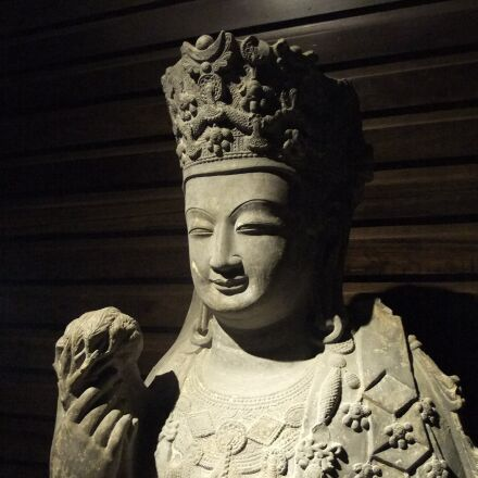 buddha statues, china, stone, Fujifilm FinePix S205EXR