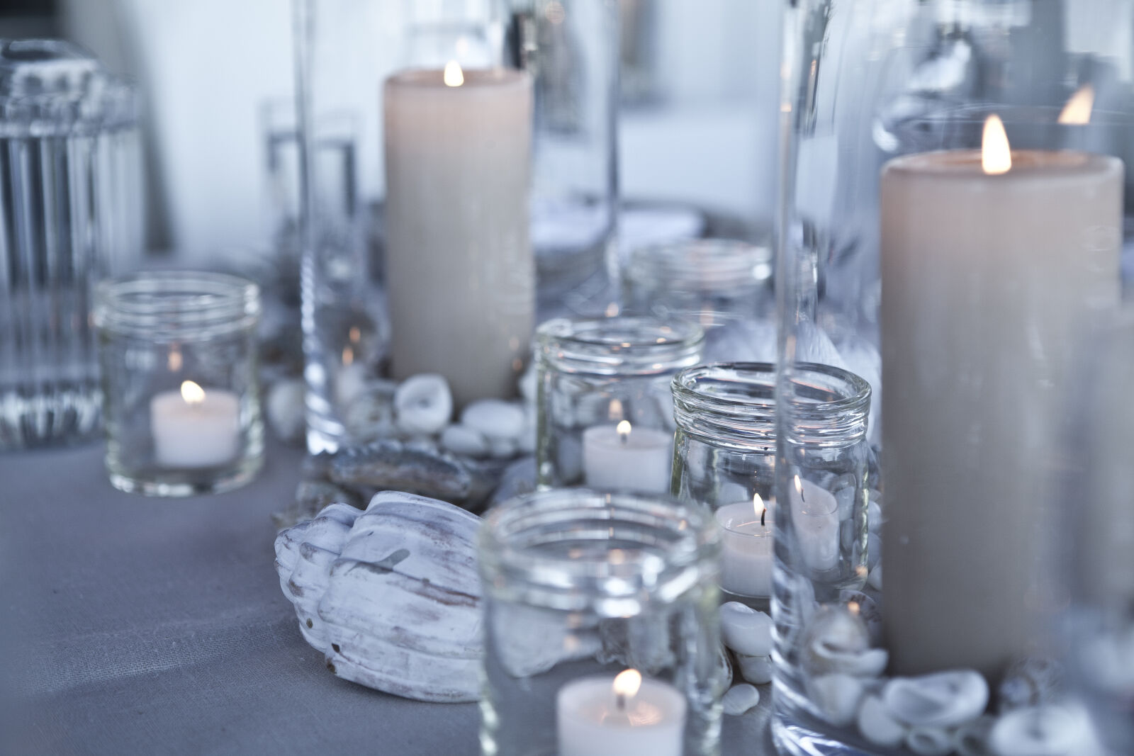 blue, candlelight, decoration, dinner photography