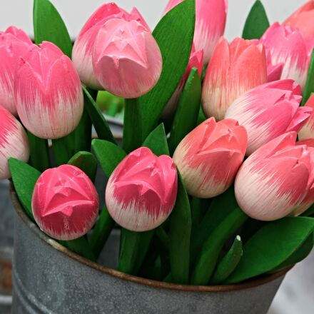 tulips, wooden tulips, decoration, Canon EOS 1100D