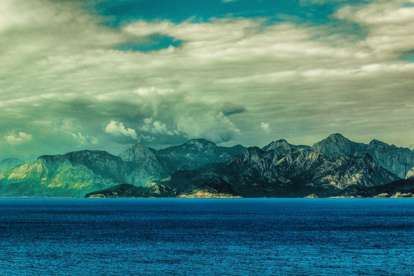 """Canon EOS 60D sample photo. """"Clouds, sea, mountain"""" photography"""