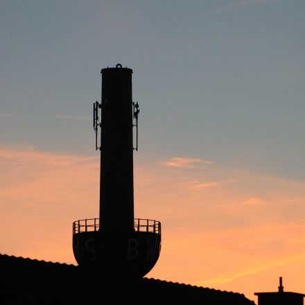 chimney, sunset, abendstimmung, Canon EOS 1100D