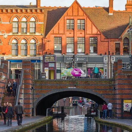 birmingham, canal, broad street, Canon EOS 650D