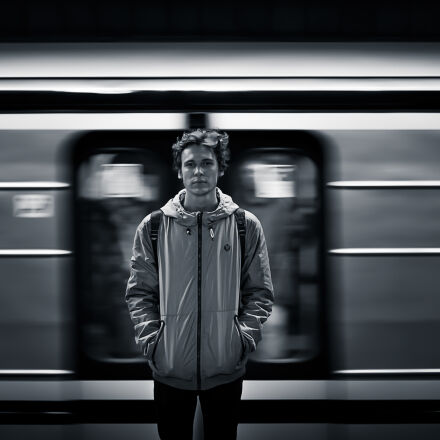 black, and, white, person, Canon EOS 6D