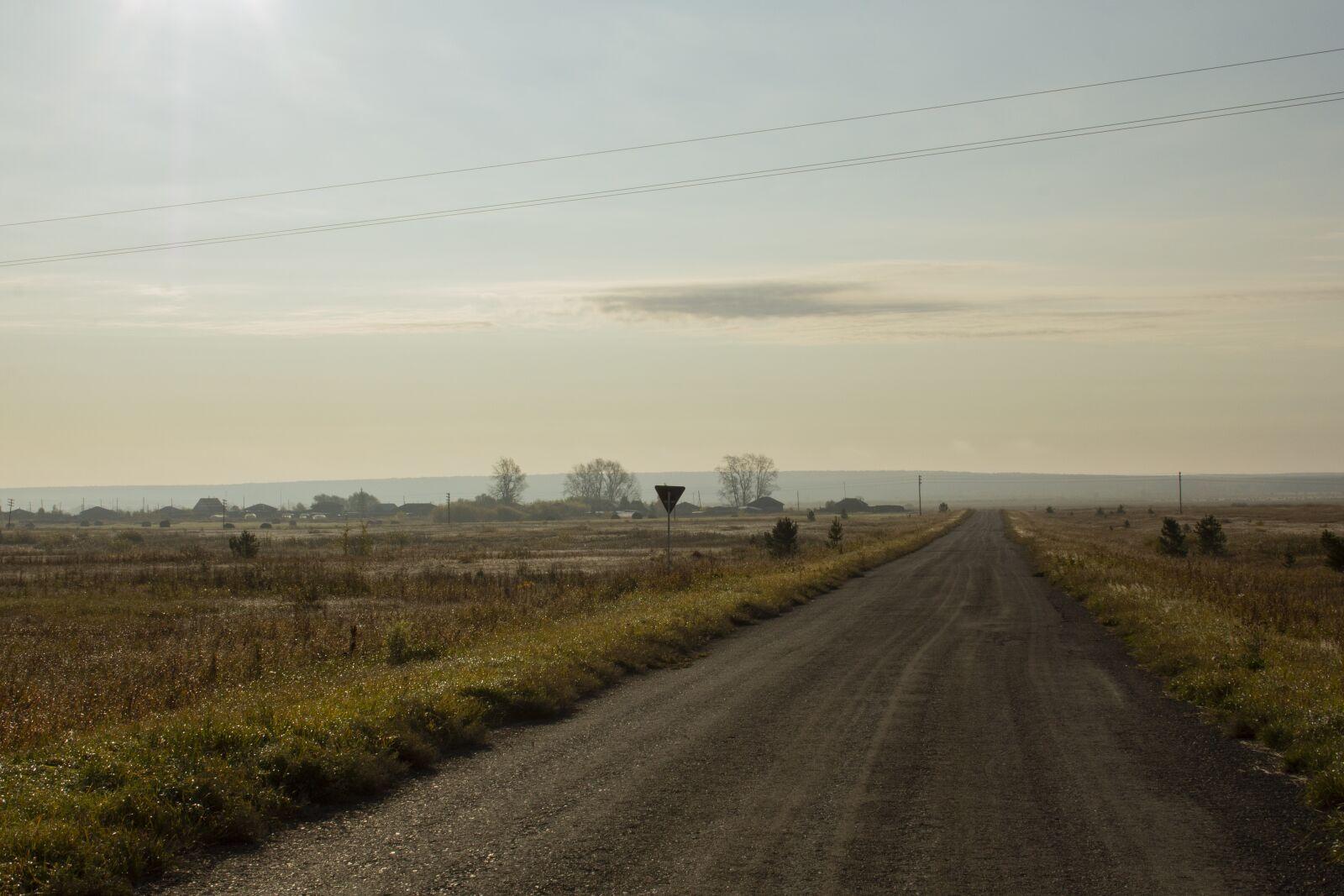 "Canon EOS 60D sample photo. ""Field, road, landscape"" photography"