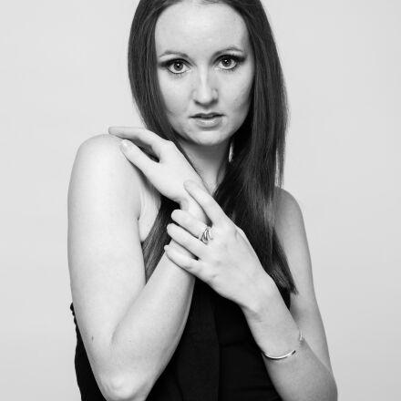 model, young woman, black, Canon EOS 5D MARK II