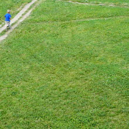 meadow, green, child, Sony NEX-5