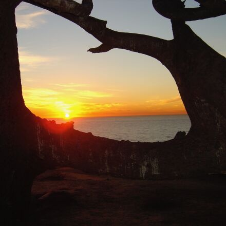 sunset, california, landscape, Sony DSC-P10