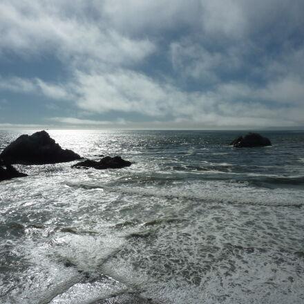 ocean, pacific, ocean, sky, Panasonic DMC-ZS3
