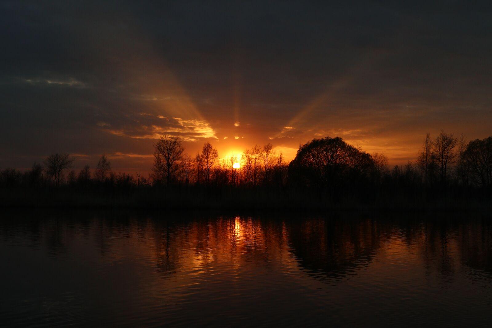 sunset, spring, river