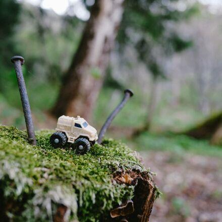 forest, toy, truck, Fujifilm X-Pro1