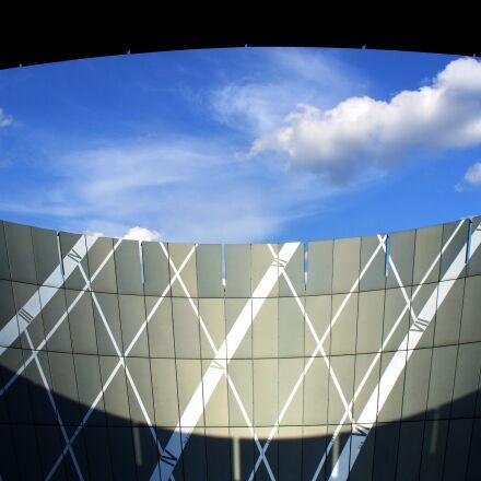architecture, sky, contrast, Panasonic DMC-LZ5