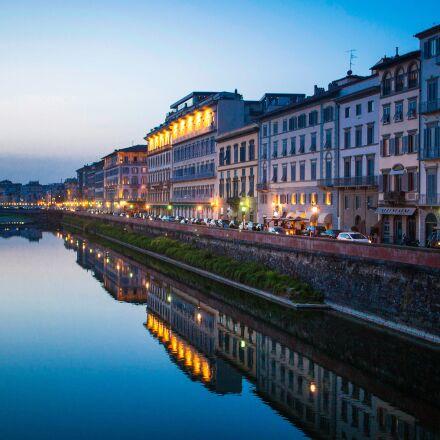 city, river, water, Canon EOS 5D MARK II