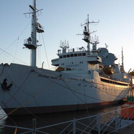 kaliningrad, river, ship, Panasonic DMC-FT5