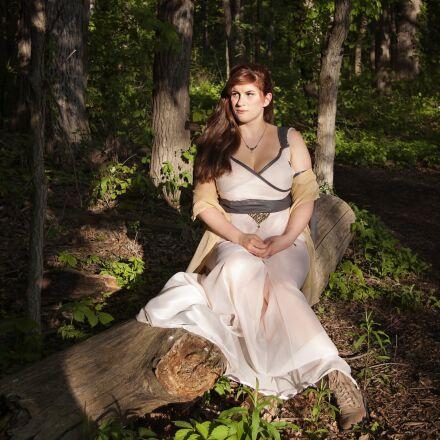 woman, woods, nature, Pentax K10D
