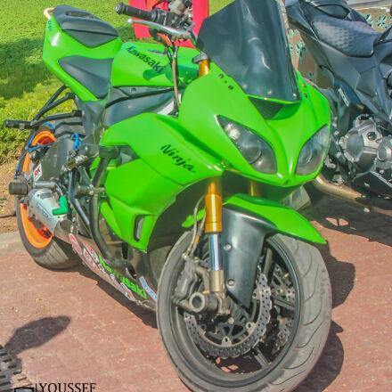 kawasaki, ninja, green, Canon EOS 550D