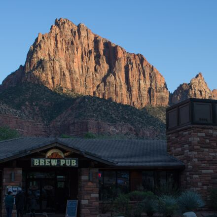 mountains, zion, sunset, Canon EOS REBEL T6I