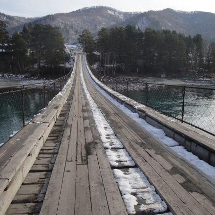 altai, bridge, nature, Sony DSC-W270