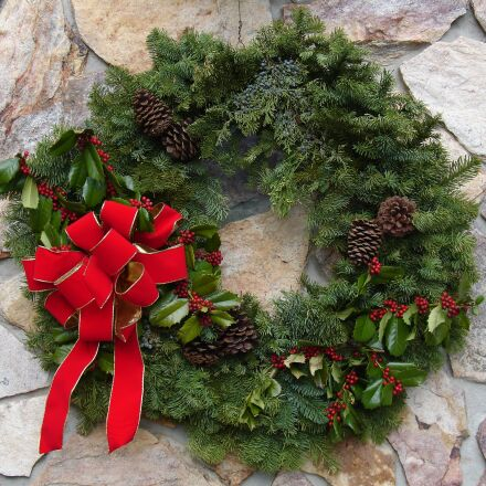 christmas, wreath, holiday, Sony DSC-V3