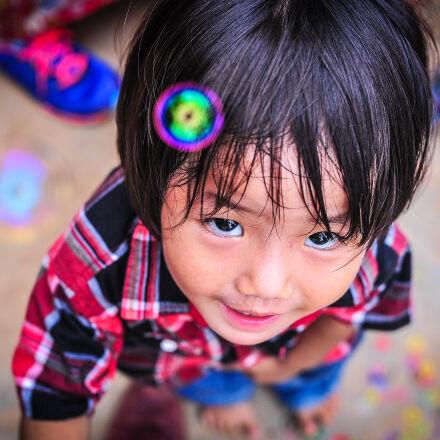 asia, bubble, child, girl, Nikon D700